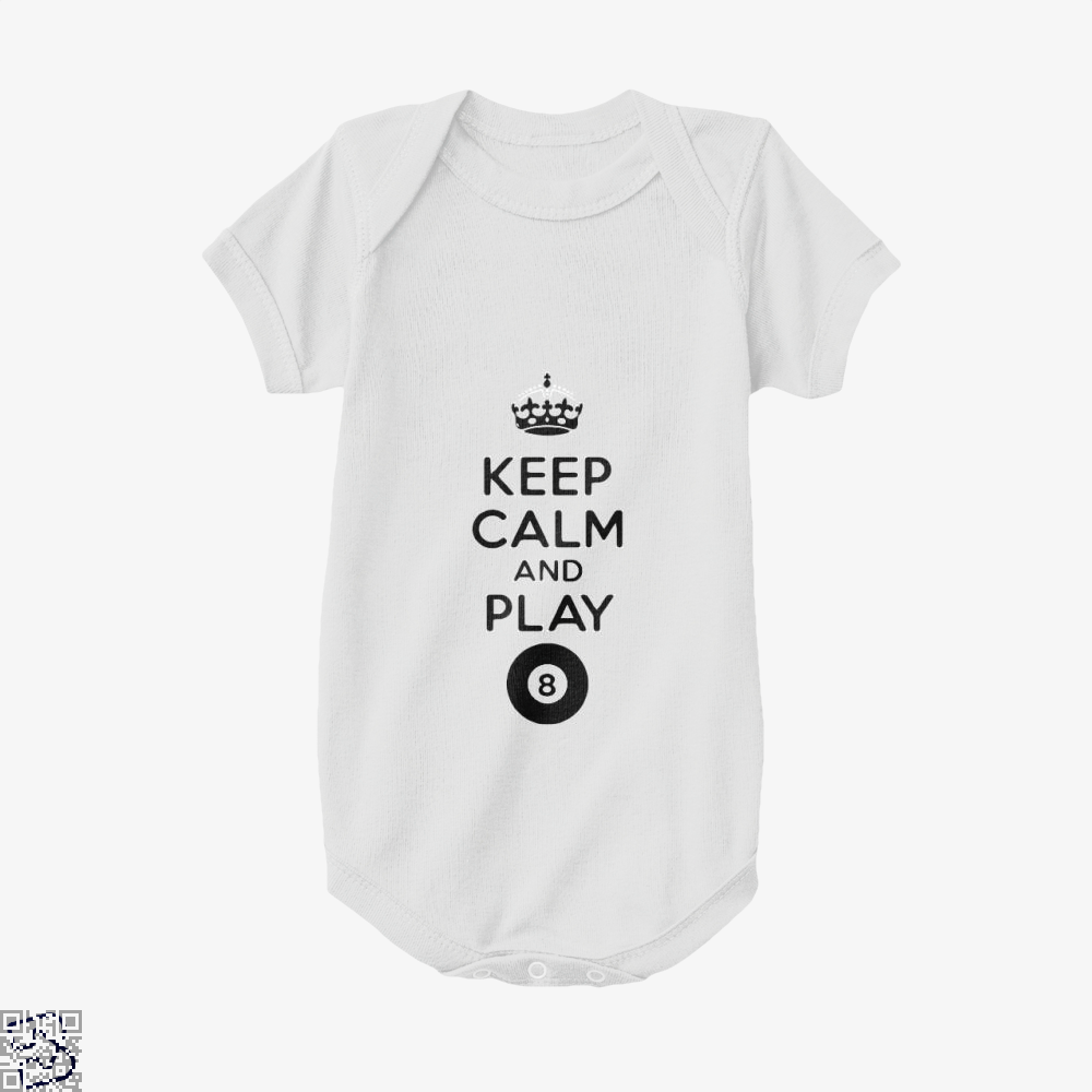 Keep Calm And Play Eight, Snooker Baby Onesie