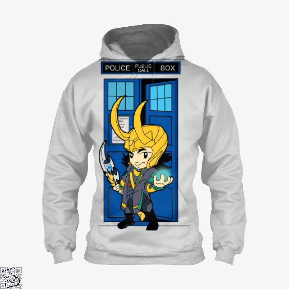 Mad God In A Big Blue Box, Loki Hoodie