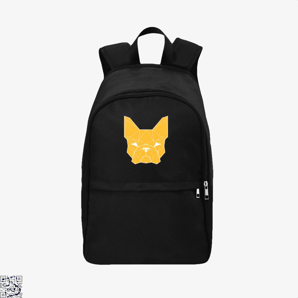 French Geometry, French Bulldog Backpack