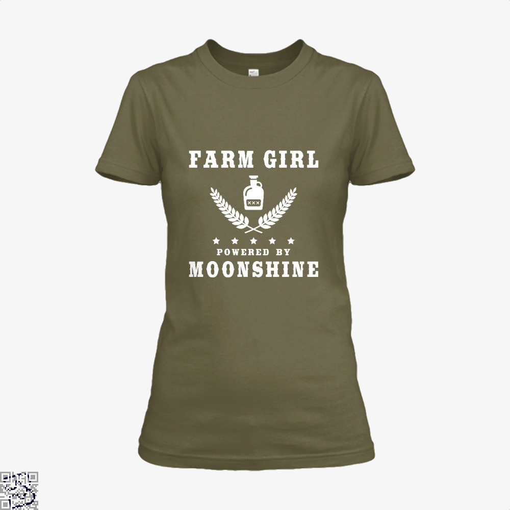 Farm Girl Powered By Moonshine, Drink Shirt