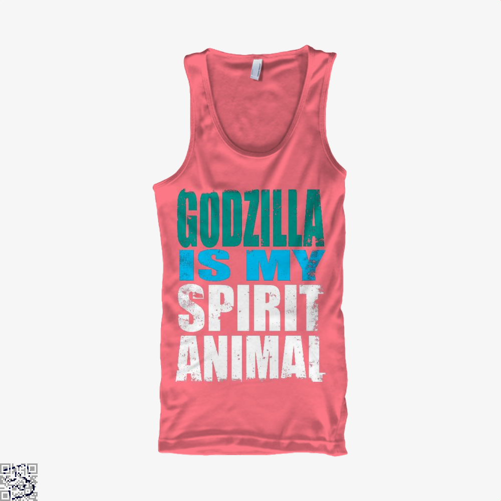 Godzilla Is My Spirit Animal, Godzilla Tank Top