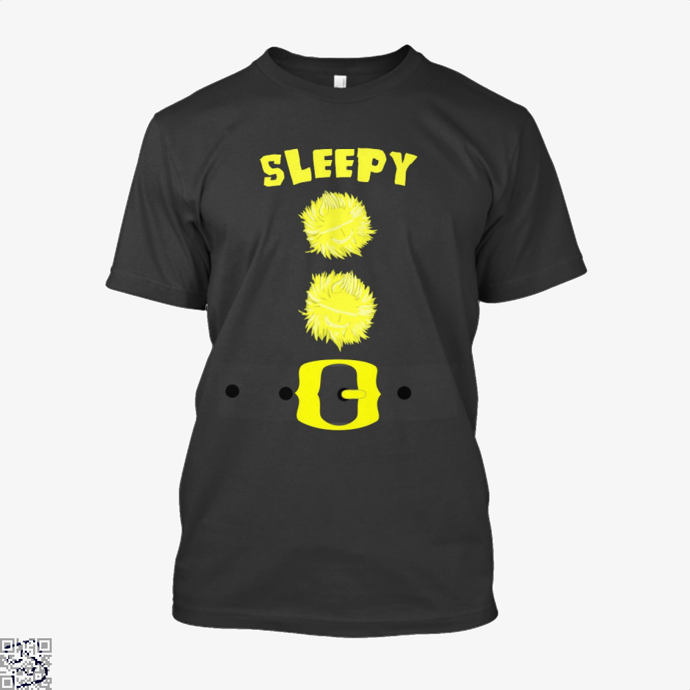 Sleepy Snow White 7 Dwarfs Bashful Sneezy Dopey Happy Grumpy Doc, Sloth Shirt