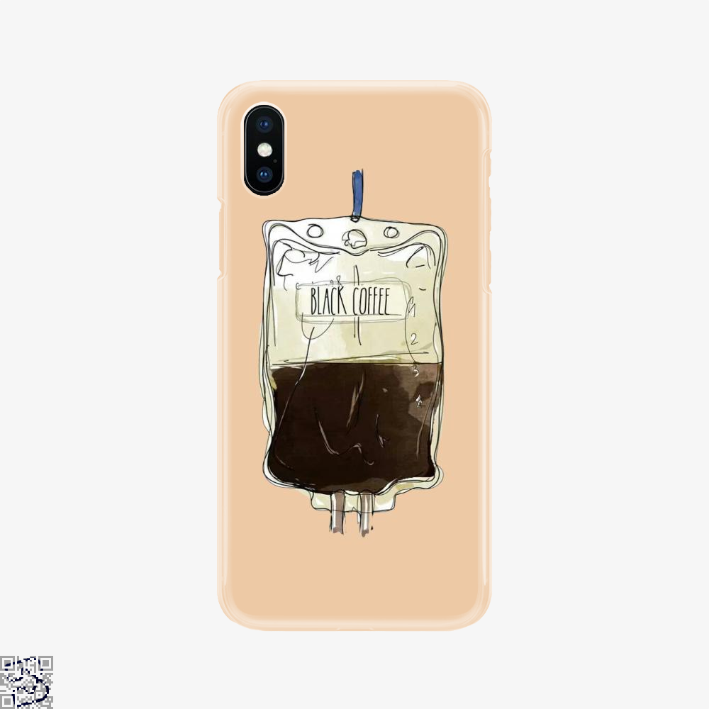 Black Coffee Infusion, Coffee Phone Case