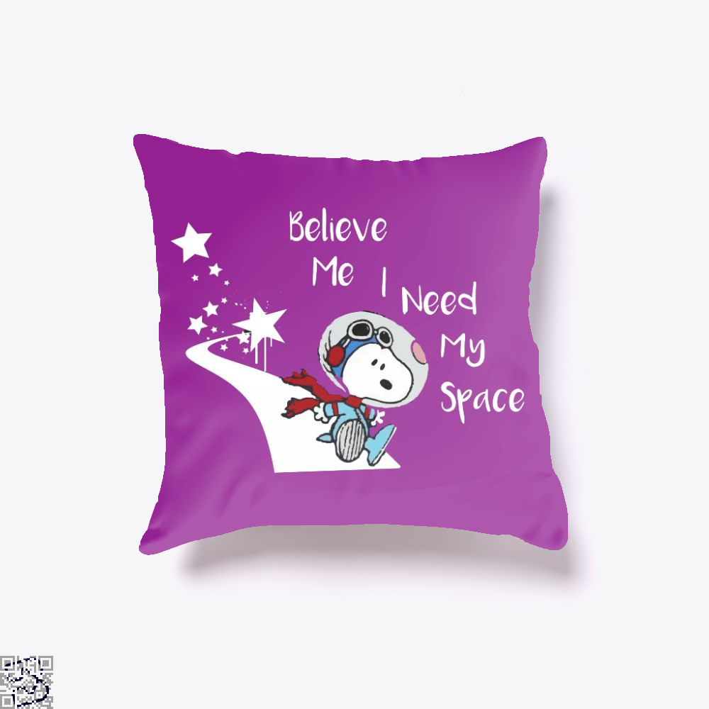 Snoopy Peanuts I Need My Space, Snoopy Throw Pillow Cover