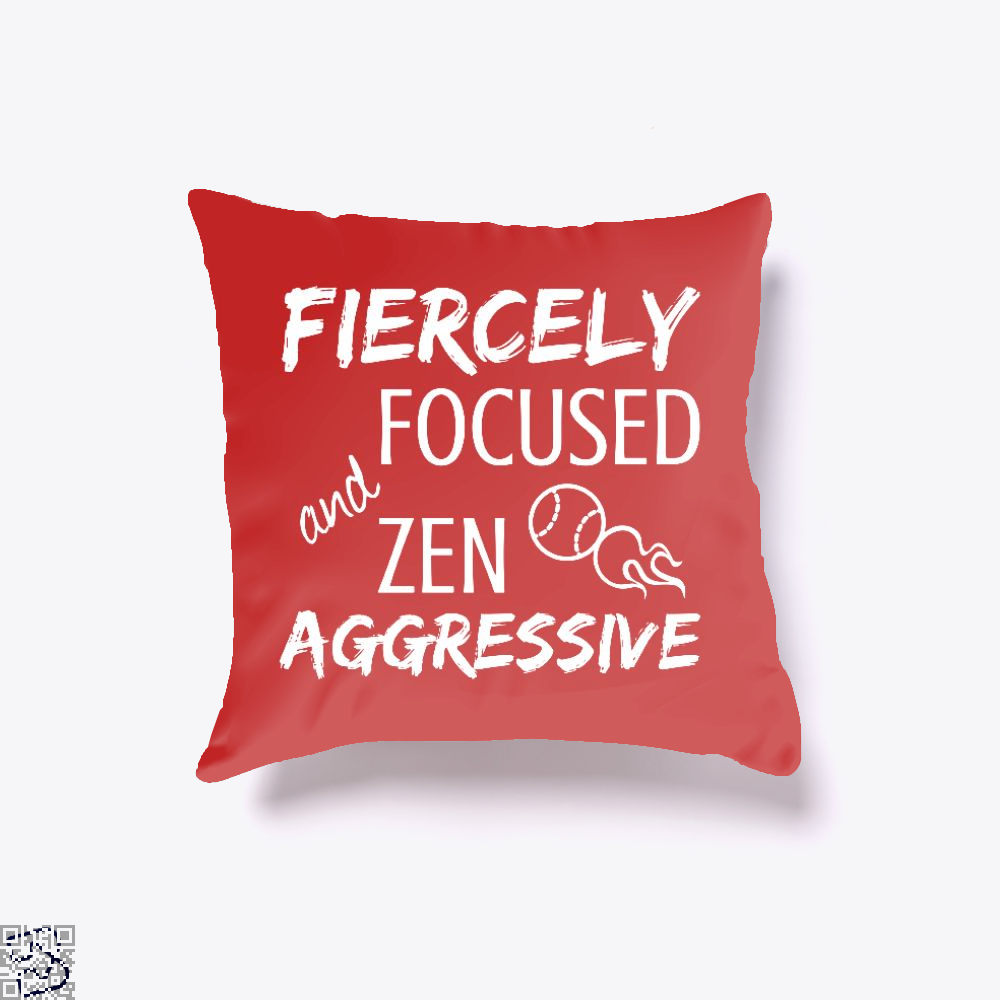 Fiercely Focused And Zen Aggressive Tennis, Tennis Throw Pillow Cover