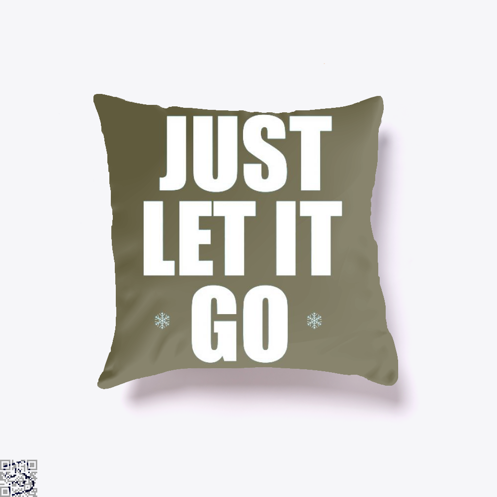 Just Let It Go Snow Queen, Frozen Throw Pillow Cover