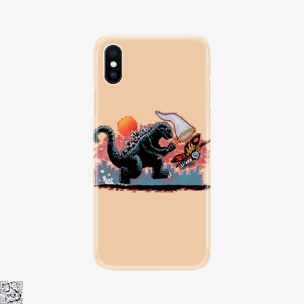 Catching Kaiju, Godzilla Phone Case