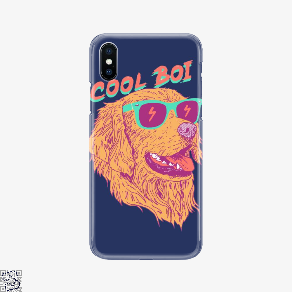 Cool Boi, Golden Retriever Phone Case
