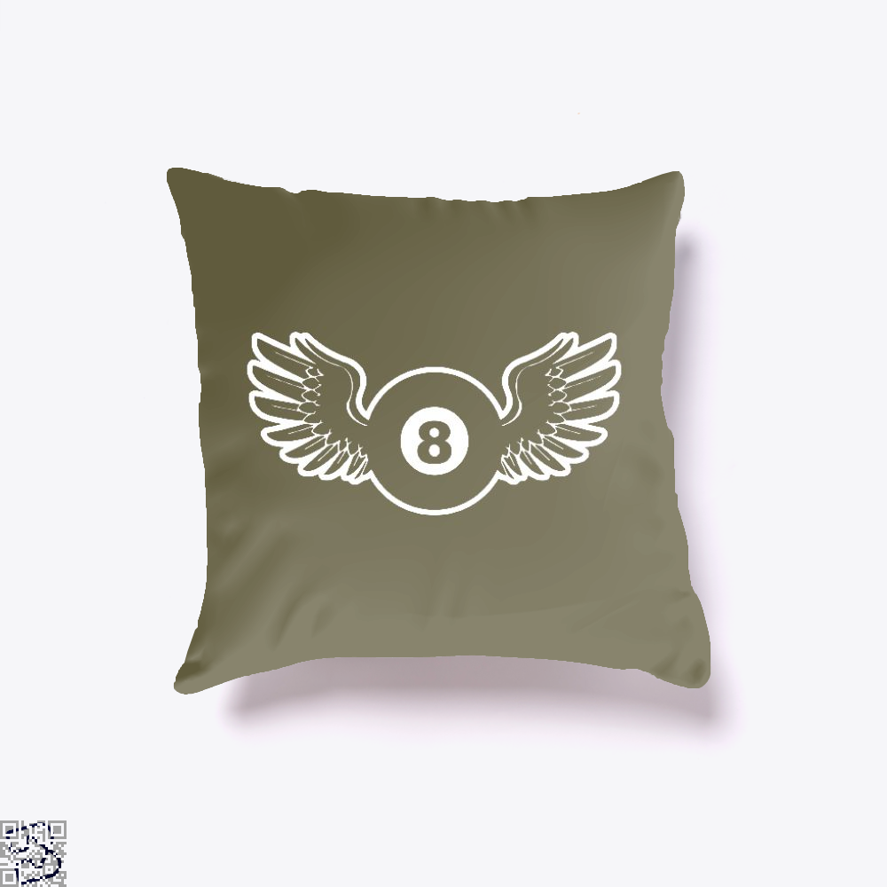 Flying 8 Ball, Snooker Throw Pillow Cover