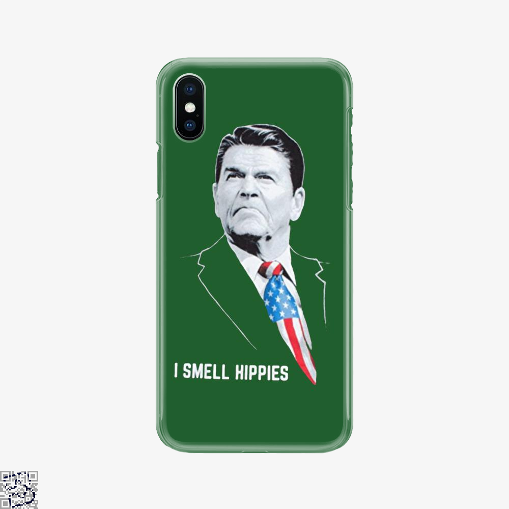 I Smell Hippies Ronald Reagan, Conservative Phone Case
