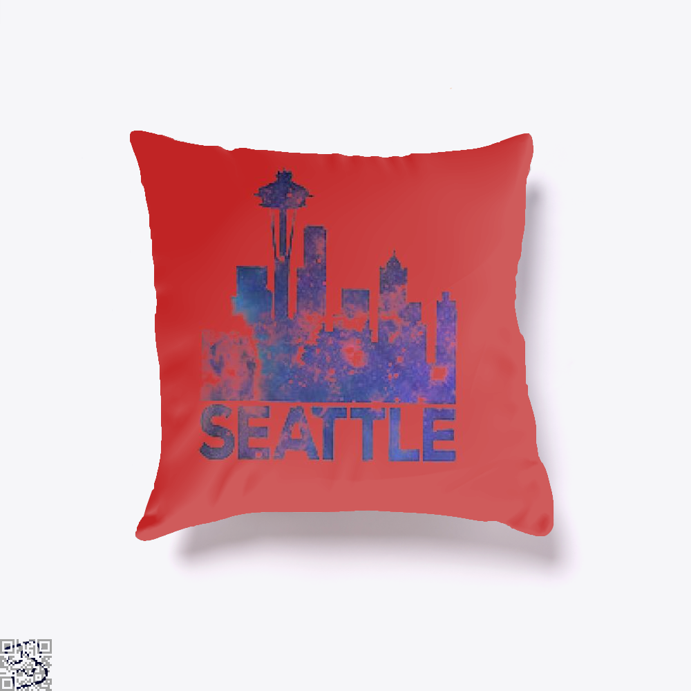 City Of Seattle, Seattle Throw Pillow Cover