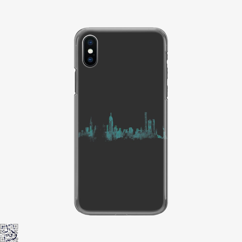 Watercolor Skyline, New York City Phone Case