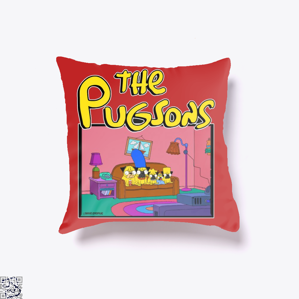 The Pugsons, Pug Throw Pillow Cover