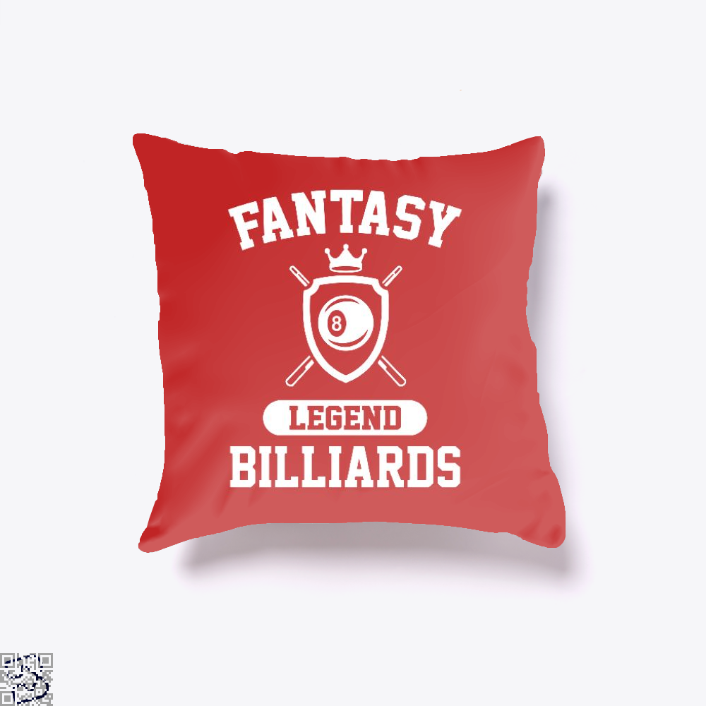Fantasy Billiards Champion, Snooker Throw Pillow Cover
