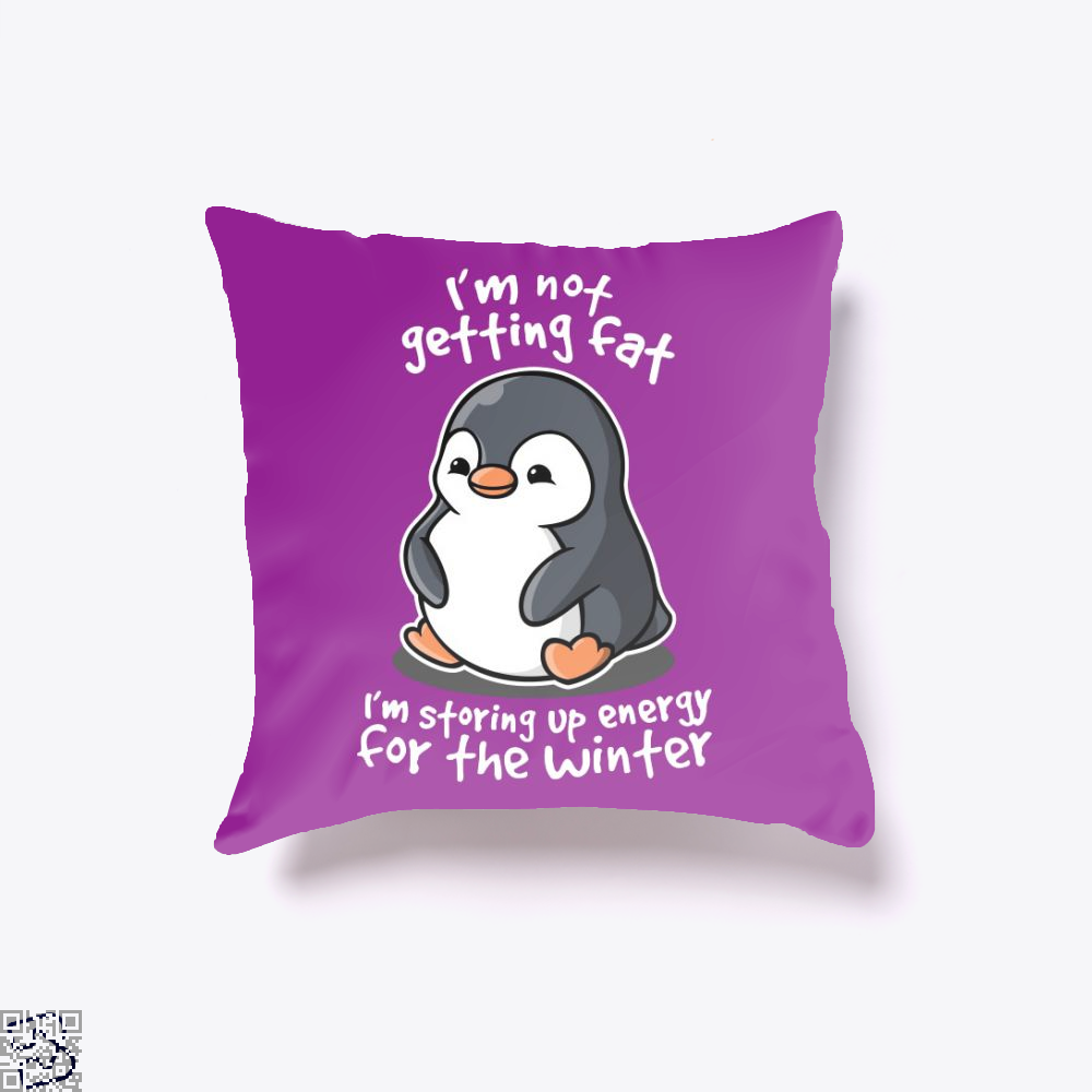 Chubby Penguin, Penguin Throw Pillow Cover