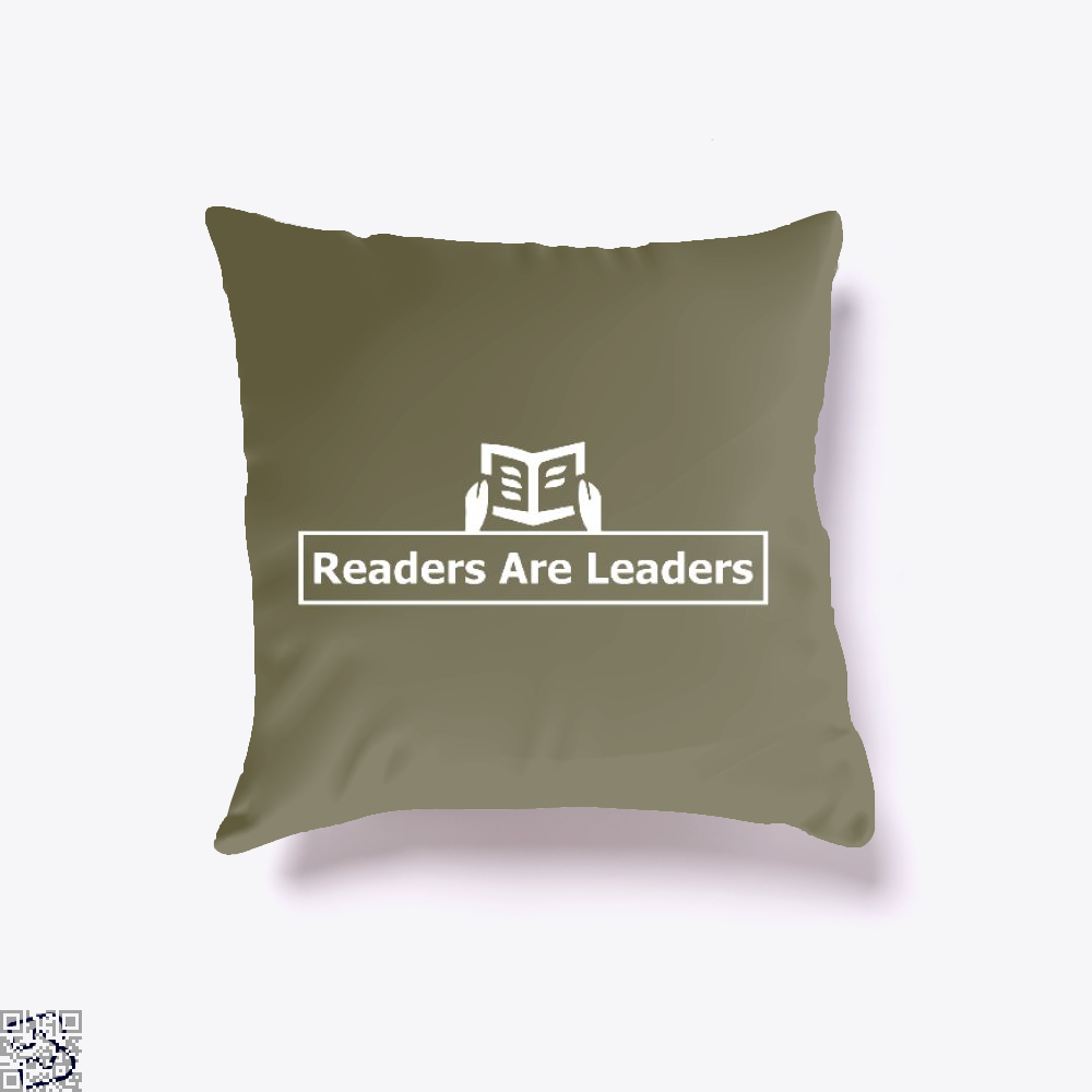 Readers Are Leaders, Reading Throw Pillow Cover