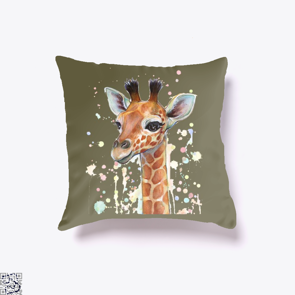 Baby Giraffe, Giraffe Throw Pillow Cover