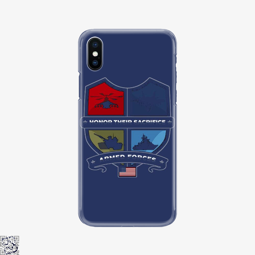Armed Forcesday Honor Their Sacrifice Militar, Deadpan Phone Case