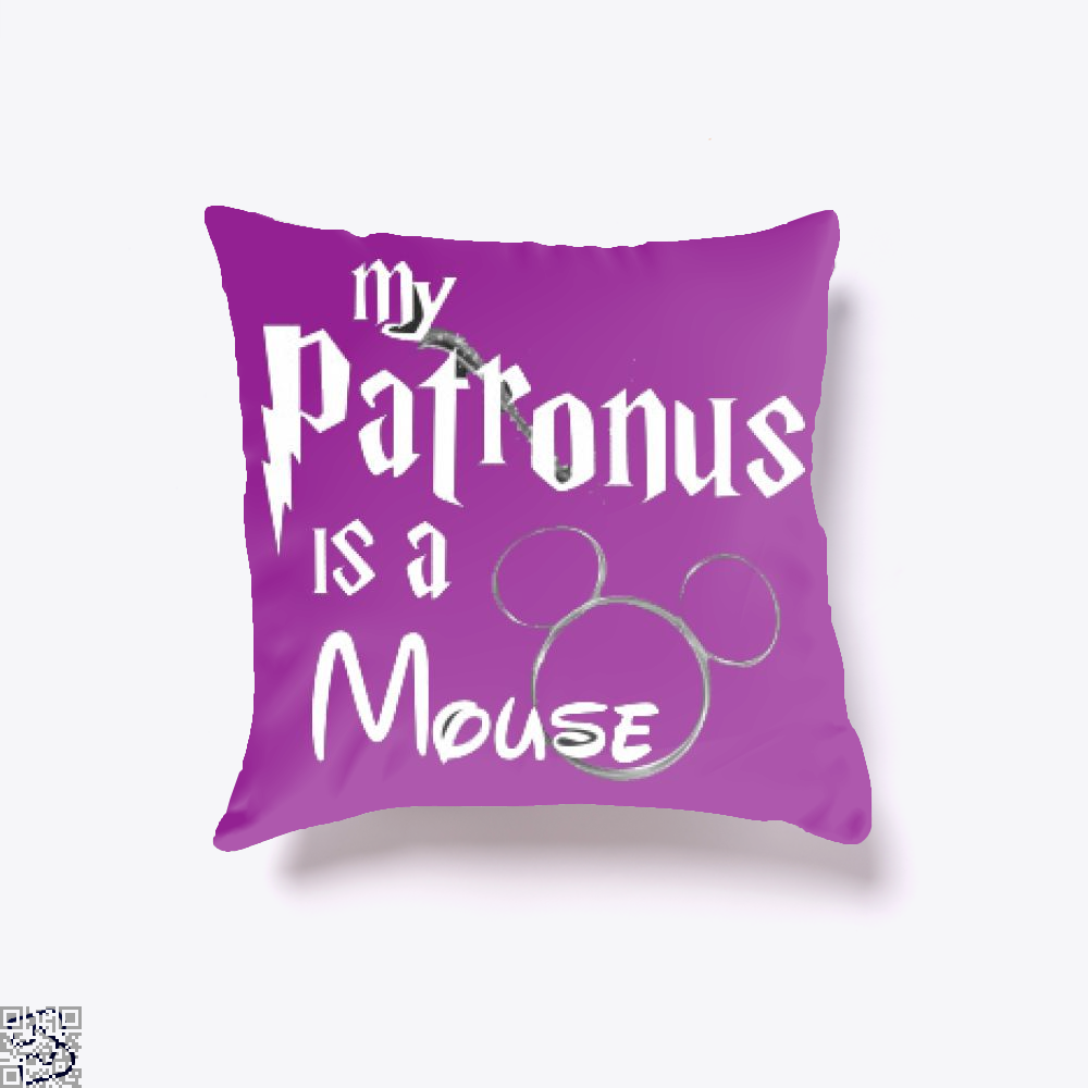 My Patronus Is A Mouse, Mickey Mouse Clubhouse Throw Pillow Cover