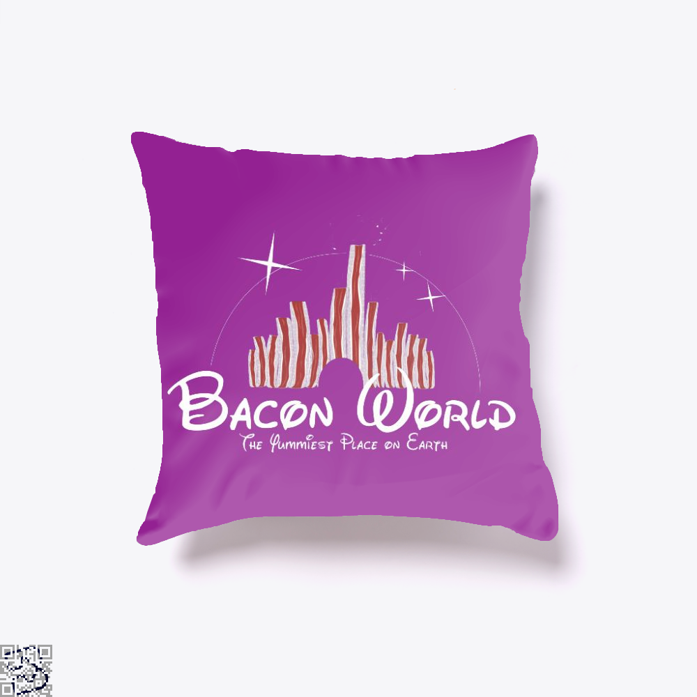 Bacon World, Bacon Throw Pillow Cover