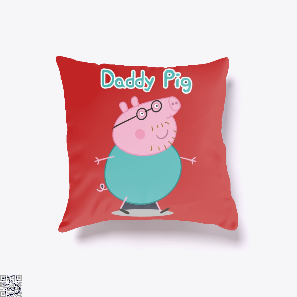 Daddy Pig Peppa Pig Throw Pillow Cover
