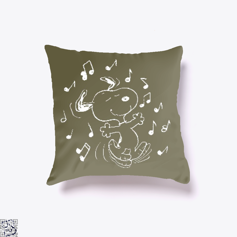 Dancing Snoopy, Snoopy Throw Pillow Cover