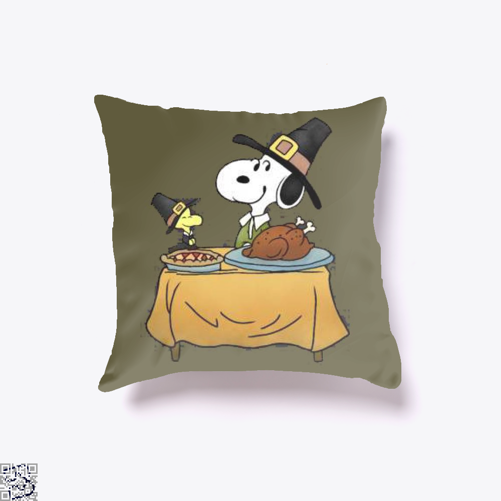 Thanksgiving Snoopy, Snoopy Throw Pillow Cover
