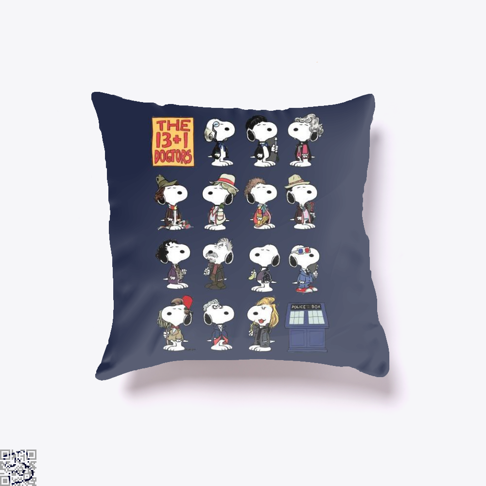 The 13 1 Dogtors, Snoopy Throw Pillow Cover