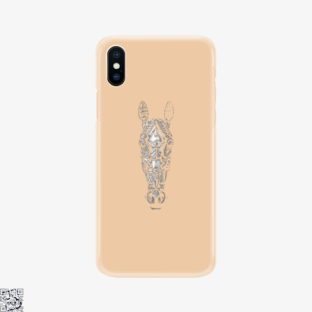 Ornate Horse Head Bw, Horse Phone Case