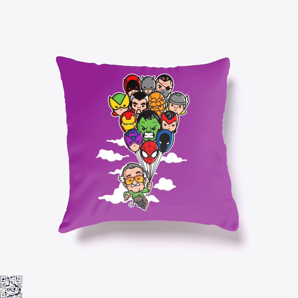 Balloon Stan Ii, Stan Lee Throw Pillow Cover