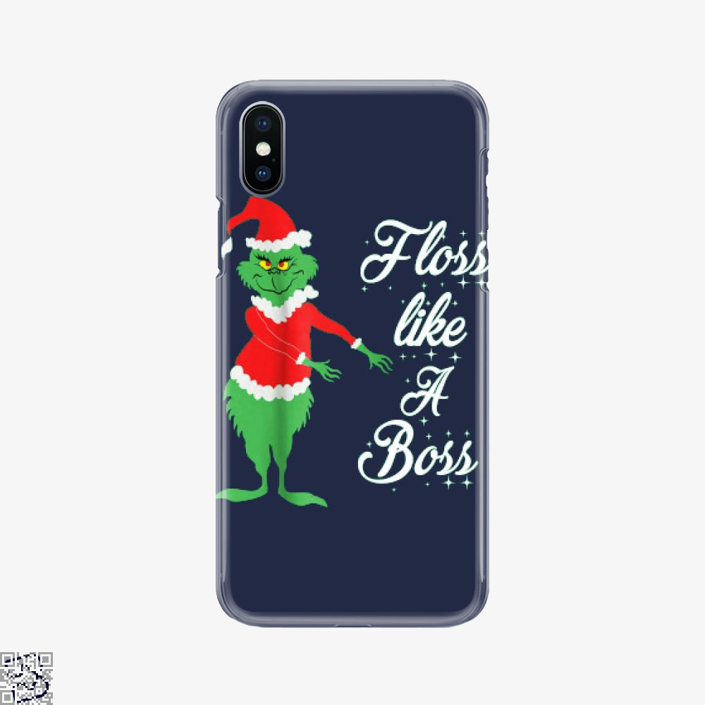 Grinches Christmas Floss Like A Boss, Grinch Phone Case