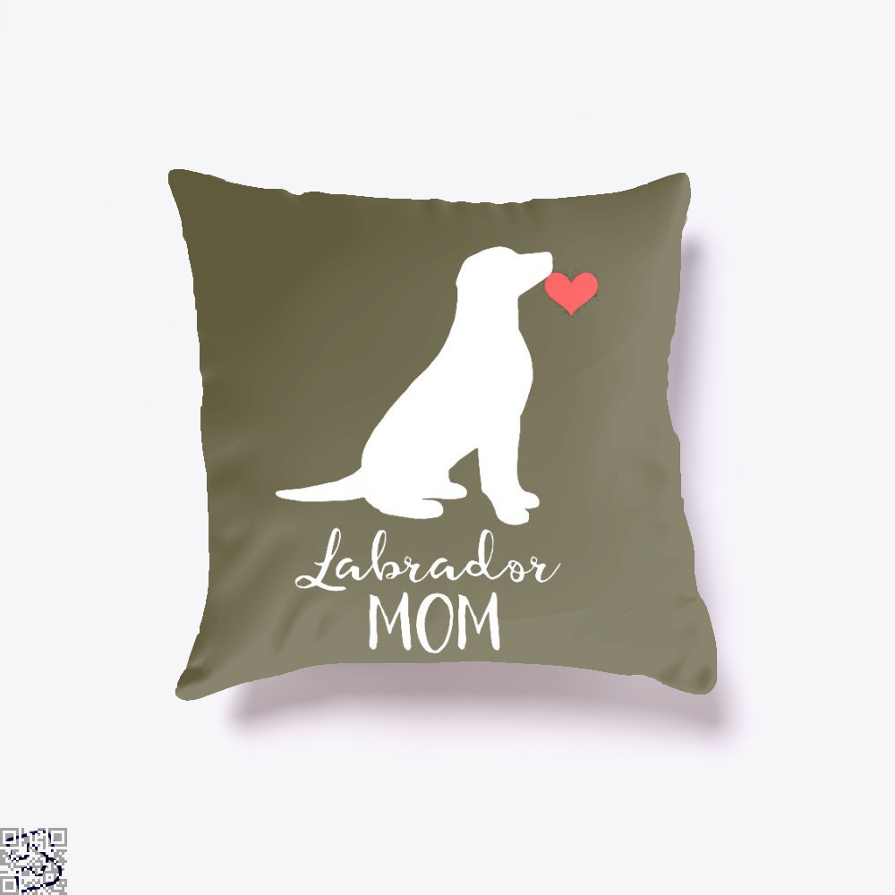 Labrador Sitting Silhouette, Labrador Retriever Throw Pillow Cover