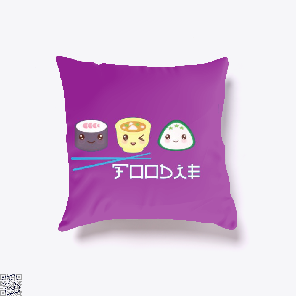 Fun Foodie, Sushi Throw Pillow Cover
