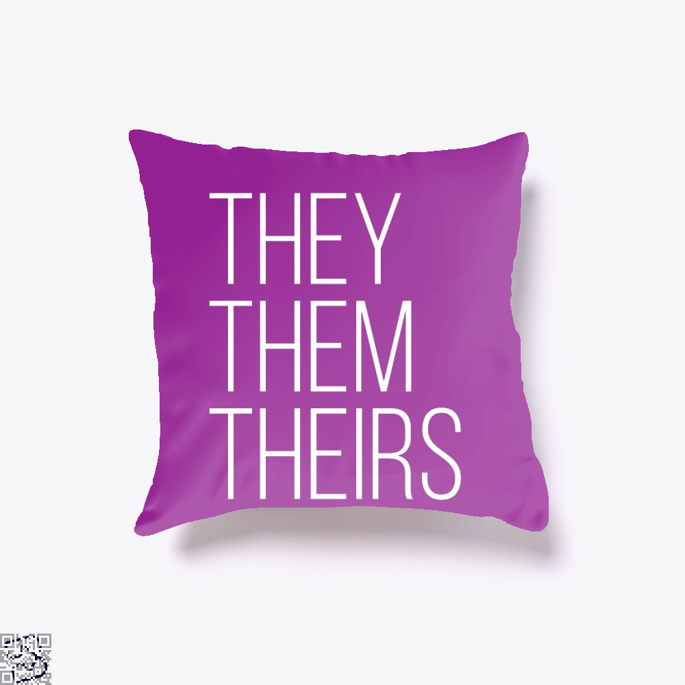 They Them Theirs, Lgbt Throw Pillow Cover
