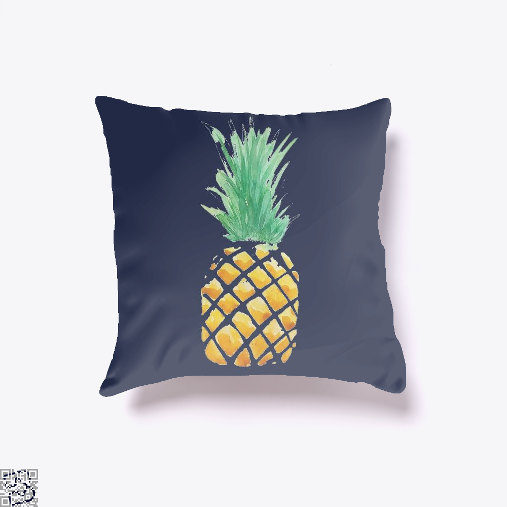 Pineapple , Kamloopsartparty Throw Pillow Cover