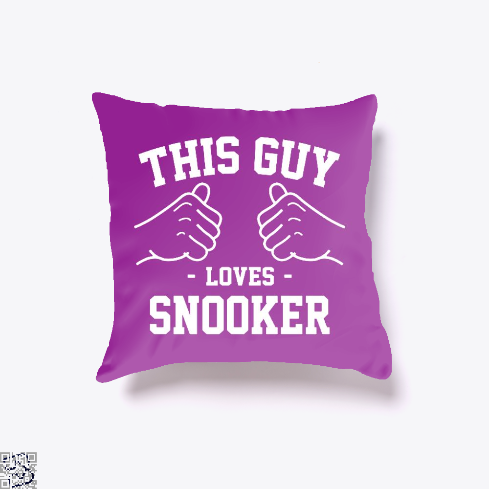 This Guy Loves Snooker, Snooker Throw Pillow Cover