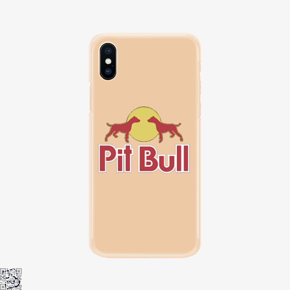 The Pitbull Two Red Pit Bull, Pitbull Phone Case