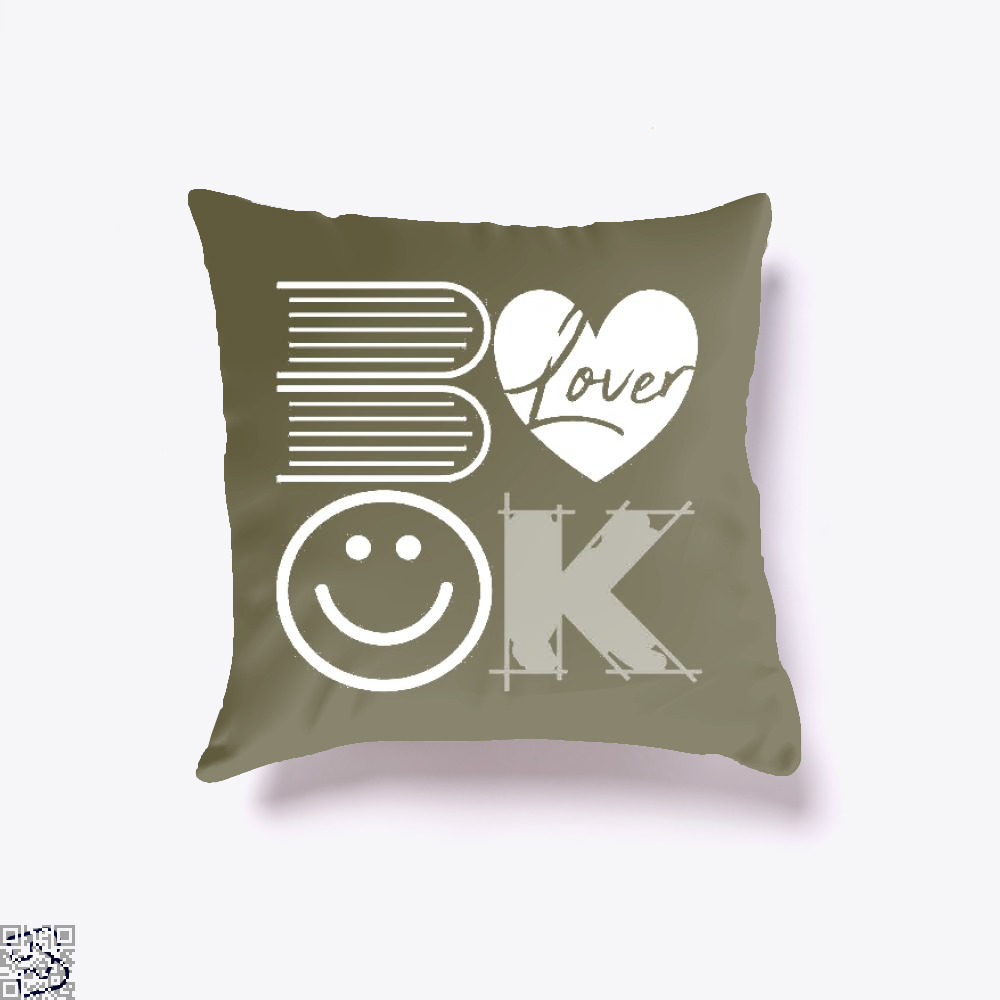 Book Lover, Reading Throw Pillow Cover