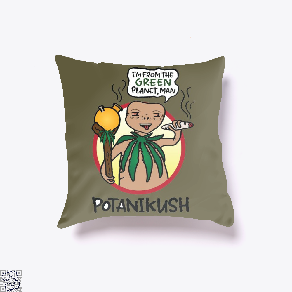 Potanikush, Weed Throw Pillow Cover