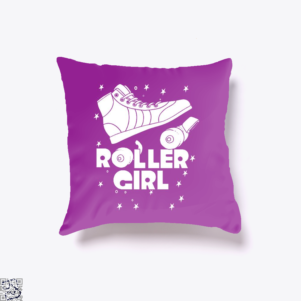 Roller Girl Roller Skating Derby Rgb, Skating Throw Pillow Cover