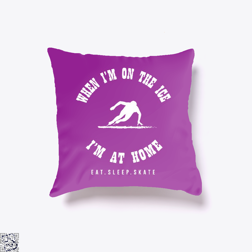 Ice Skate When I'm On The Ice, Skating Throw Pillow Cover
