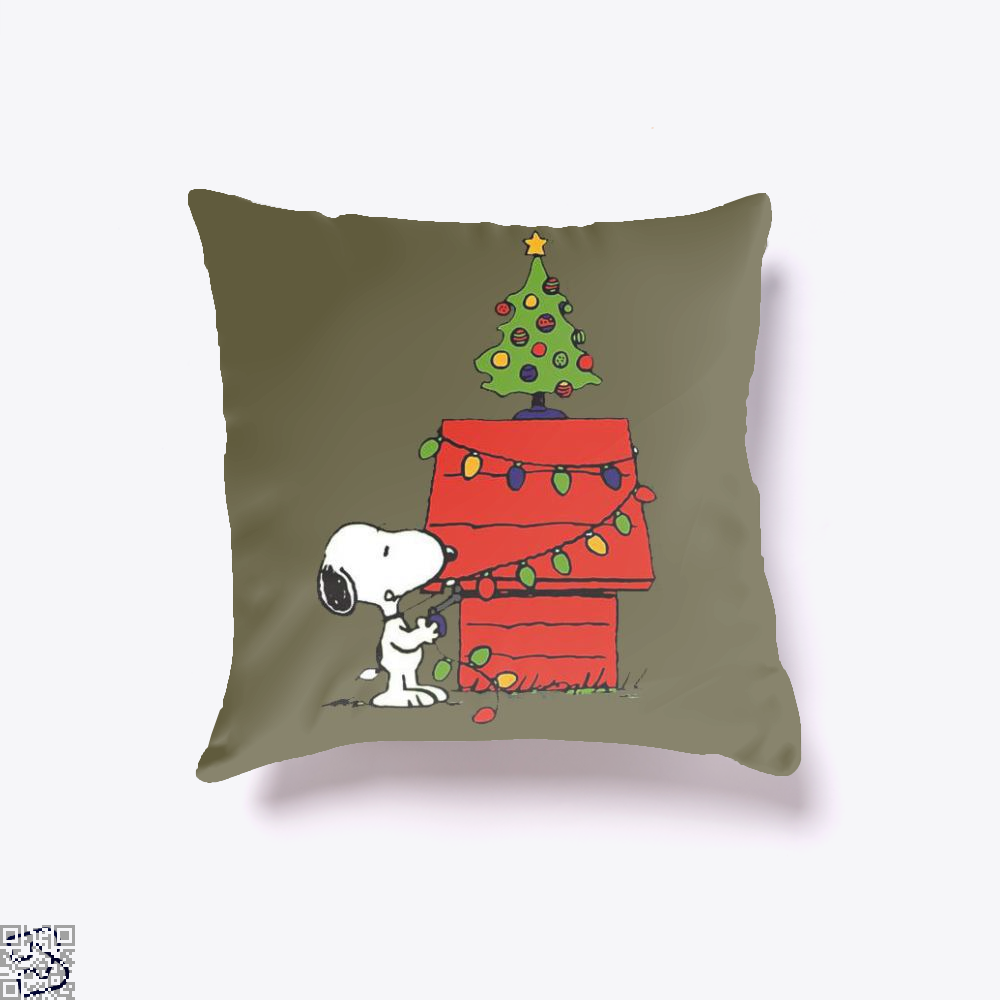 Christmas Snoopy Lights, Snoopy Throw Pillow Cover