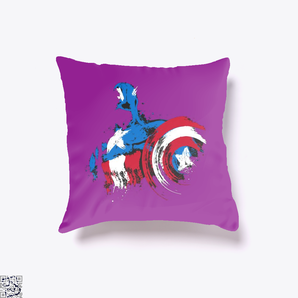 The Captain Is Coming, Captain America Throw Pillow Cover