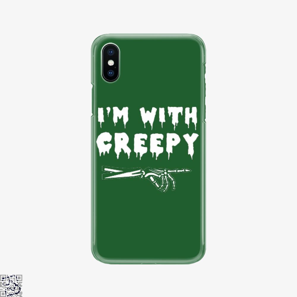 I'm With Creepy, Hyperbolic Phone Case