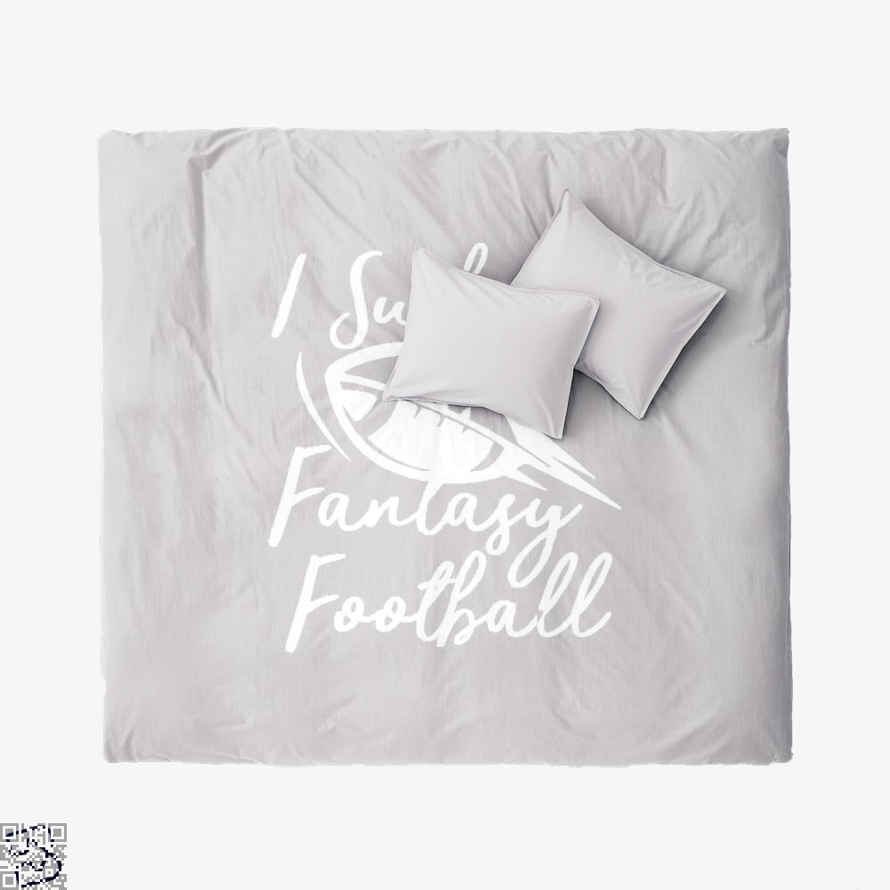 I Suck At Fantasy Football Cute Sports, Football Duvet Cover Set