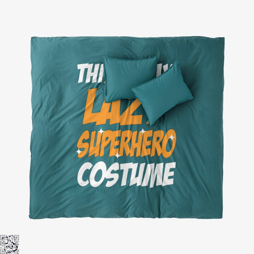 This Is My Lazy Superhero Costume, Halloween Duvet Cover Set
