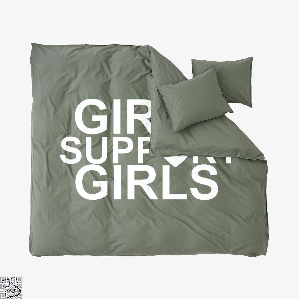 Girls Support Girls, Feminism Duvet Cover Set