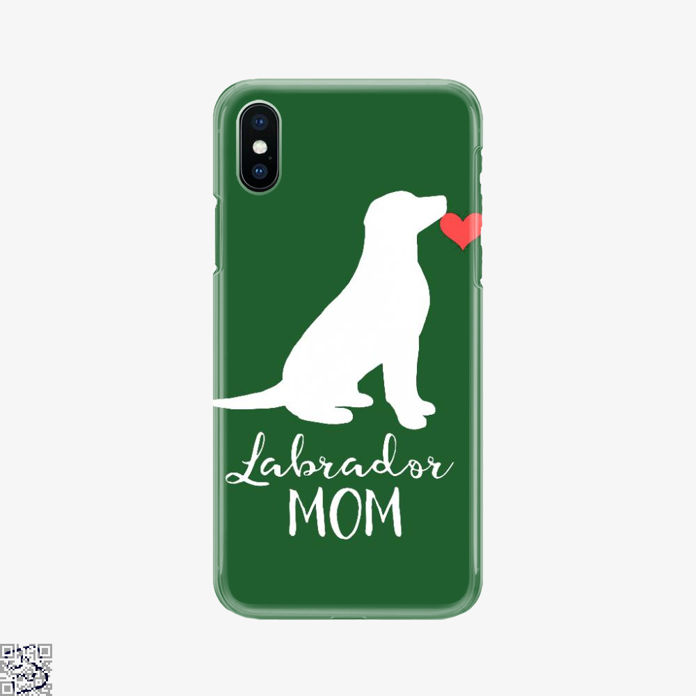 Labrador Sitting Silhouette, Labrador Retriever Phone Case