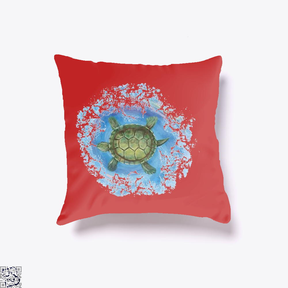 Twisted Turtle , Kamloopsartparty Throw Pillow Cover