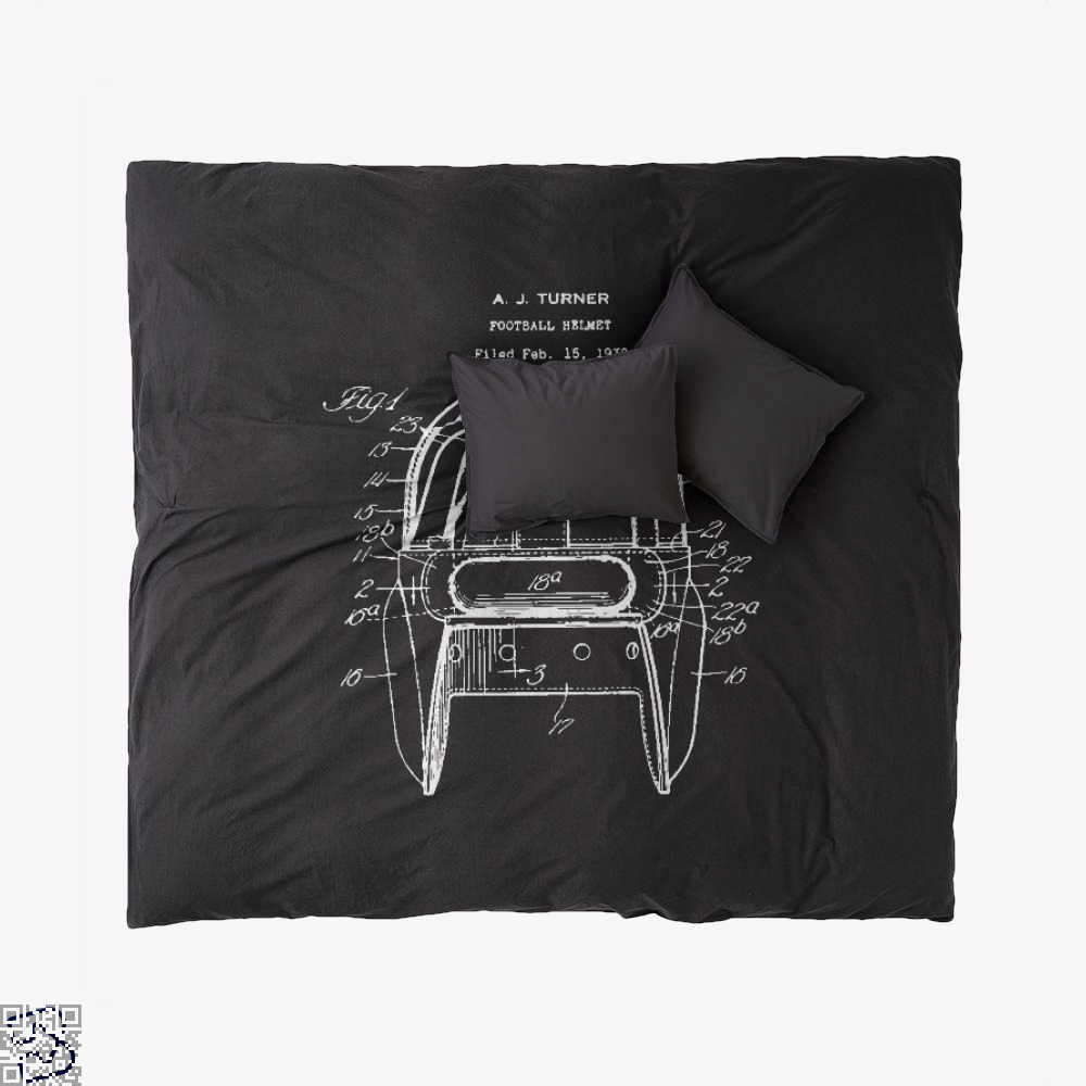 Original Football Helmet Design, Football Duvet Cover Set